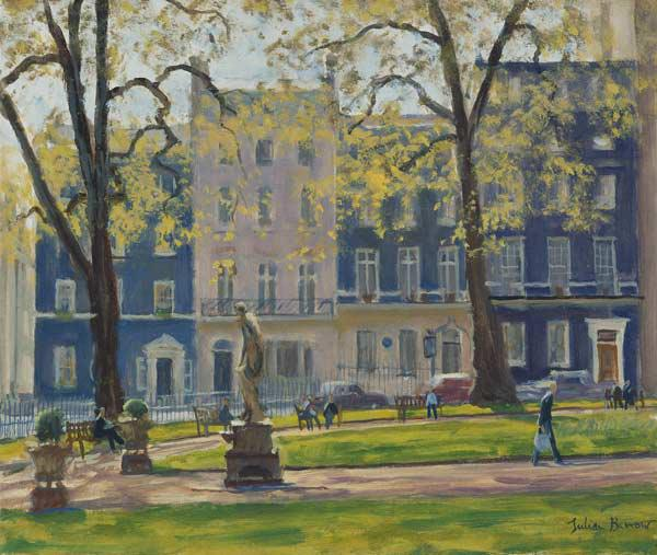 Berkeley Square, South West Corner (oil on canvas)