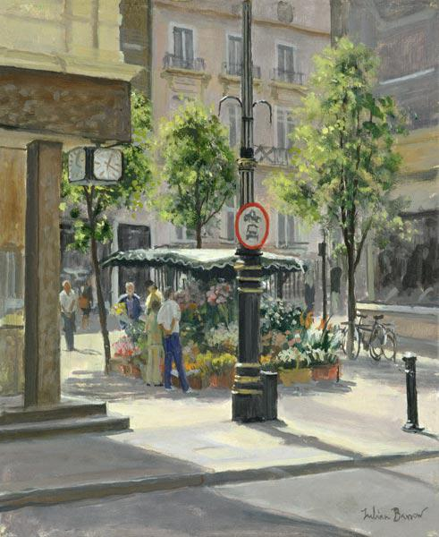 Bond Street Flowerstall (oil on canvas)