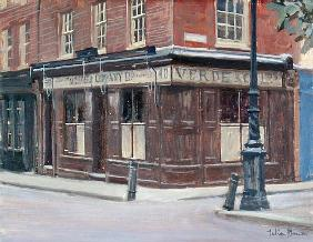 Brushfield Street, Spitalfields (oil on canvas)