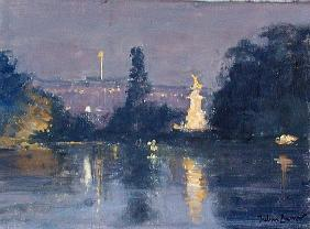 Buckingham Palace - Night (oil on canvas)