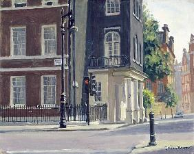 New Square, Lincoln''s Inn (oil on canvas)