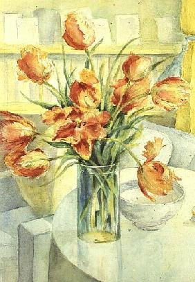 Artist''s Tulips in the Drawing Room
