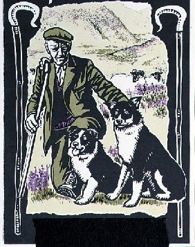 Shepherd Laddie o'' the Hills, 1997 (linocut on paper)