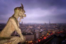 Gargoyle of Notre-Dame Cathedral, Paris