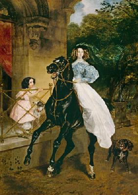The Horsewoman, Portrait of Giovanina and Amacilia Paccini, wards of Countess Samoilova