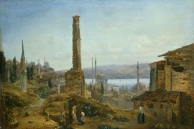 Blechen, Harbour in Constantinople
