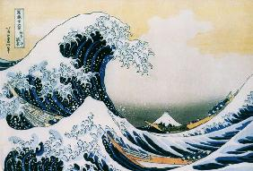 The great wave -End of the series of the 36 views of the Fudschijama 1823-29