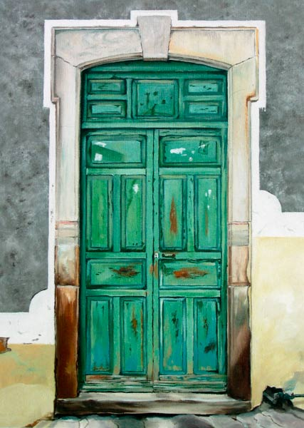 Puerta Verde James Knowles As Art Print Or Hand Painted Oil