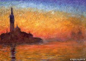 artistic postcards : Bei Sonnenuntergang in Ven...