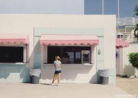 artistic postcards : Girl in Miami von Max Ferg...