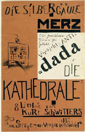 Cover of Die Kathedrale by Kurt Schwitters, published c.1920 (litho)