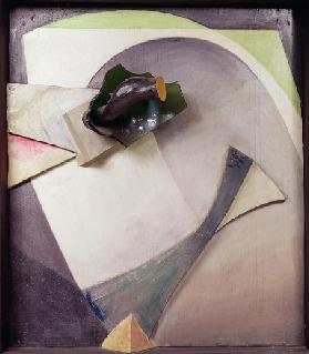 Glass Flower, 1940 (painting on wood with additional glass & wood)