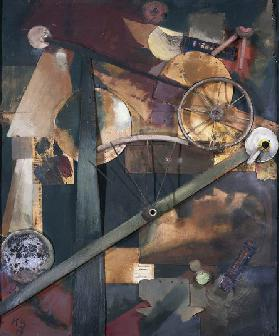 Construction for noble ladies (Konstrucktion edle fur Frauen), 1919, by Kurt Schwitters (1887-1948),