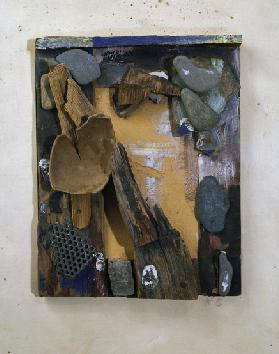 Untitled, 1939-1944, by Kurt Schwitters (1887-1948), assemblage, 35x27 cm. Germany, 20th century.