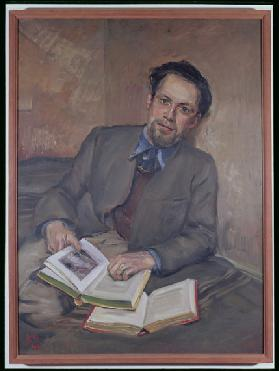 Portrait of Fred Uhlman, 1940 (oil on canvas)