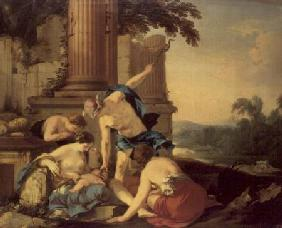 Mercury Entrusts Bacchus to the Care of the Nymphs