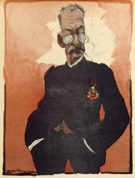 General Andre, French Minister for War, caricature from LAssiette au Beurre, 12 July, 1902 (colour l