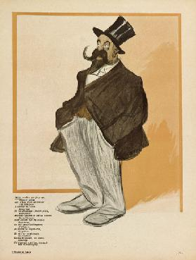 Willy, caricature from LAssiette au Beurre, No.101, 7 March, 1903 (colour litho)