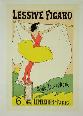 Reproduction of a poster advertising 'Lessive Figaro', Rue Lepeletier, Paris