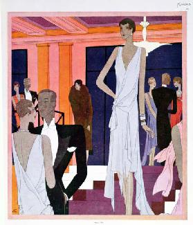 The Miramar at Cannes, fashion plate from Femina magazine, December 1928 (colour litho)