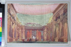 Stage design for the ballet Cléopatre