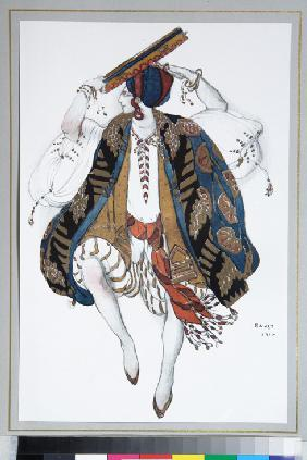 Jewish Dance. Costume design for the ballet Cléopatre