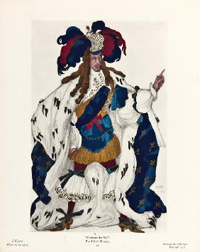 King. Costume design for the ballet Sleeping Beauty by P. Tchaikovsky