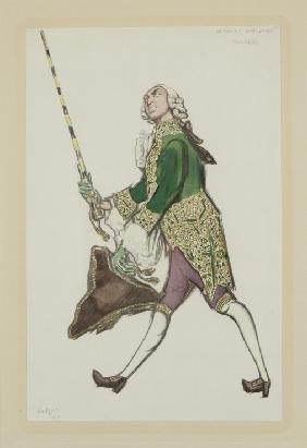 "Costume design for Rinaldo in the ballet ""The Good-Humoured Ladies"" by Scarlatti"