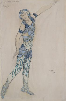 Costume design for Vaslav Nijinsky in the ballet Le Spectre de la Rose