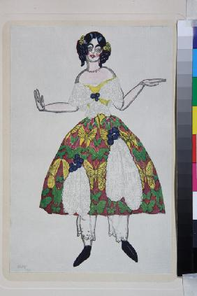 "Costume design for the ballet ""The Magic Toy Shop"" by G. Rossini"
