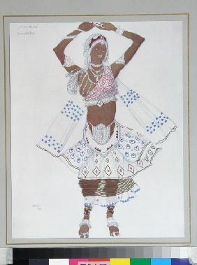 "Costume design for the Ballet ""Blue God"" by R. Hahn"