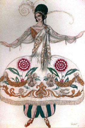 Costume design for the ballet Sleeping Beauty by P. Tchaikovsky