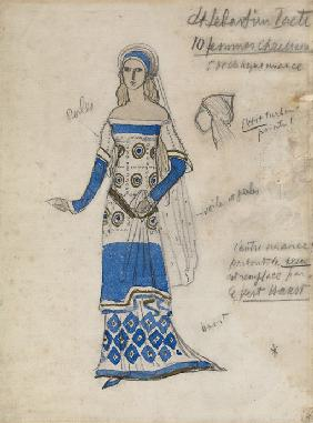 "Costume design for the play ""The Martyrdom of St. Sebastian"" by Gabriele D'Annuzio"