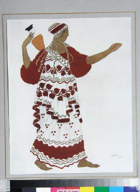 Nymph. Costume design for the ballet The Afternoon of a Faun by C. Debussy
