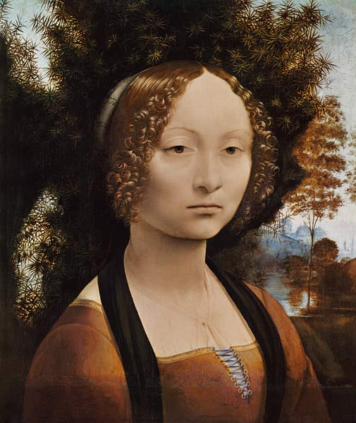 leonardo da vincis ginevra de benci essay It was not until a unique portrait, ginevra de' benci, painted by none other than leonardo da vinci, shifted away from traditional characteristics of female portraiture what's more interesting is the patron hailed from venice, a city with records that support the rise of a feminist movement.