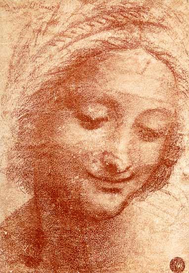 Head Of A Woman Leonardo Da Vinci As Art Print Or Hand