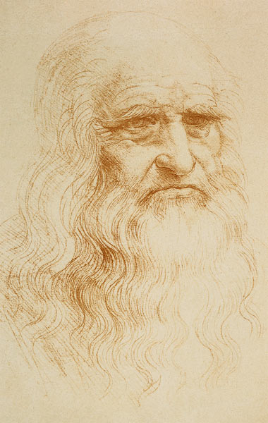 Portrait of an old man - presumably from Leonardo da Vinci