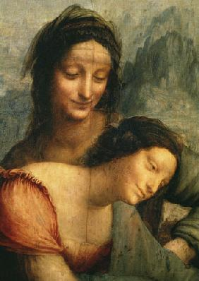 The Virgin and Child with St. Anne, detail of the Virgin and St. Anne