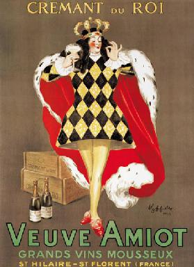 Poster advertising 'Veuve Amiot' sparkling wine