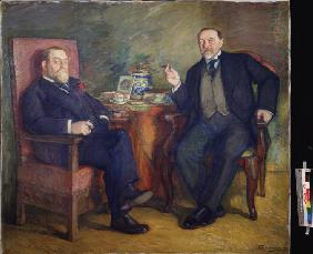 At the tea. Portrait of the collectors Ossip Cetlin und David Wyssotski