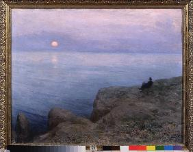 The poet Alexander Pushkin at the seashore 1896