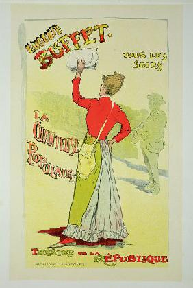 Reproduction of a poster advertising 'Eugenie Buffet', at the Republic Theatre