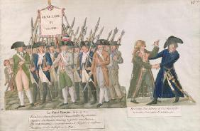 The French Vow 'Long Live Freedom or Die'; the Meeting of a Swordsman and a Member of the Revolution