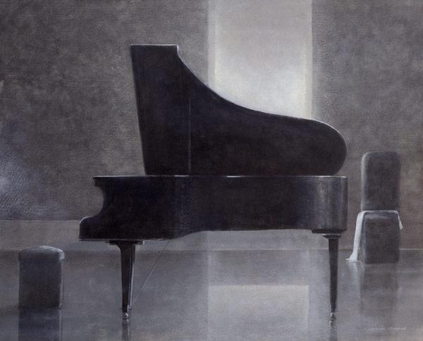 Black piano, 2004 (acrylic on paper)