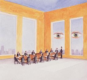 Corporate Governance, 2003 (acrylic on paper)