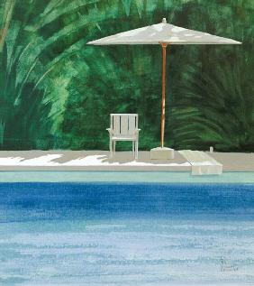 Poolside, 1994 (acrylic on paper)