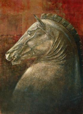 Horse''s Head, 1990 (acrylic on paper)