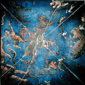 Signs of the Zodiac, detail from the ceiling of the Sala dello Zodiaco