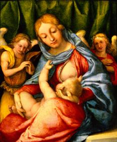 Madonna with child and angels (Madonna del slat)