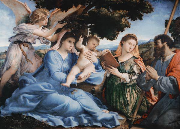 Lotto, Lorenzo : Maria with the child and t...